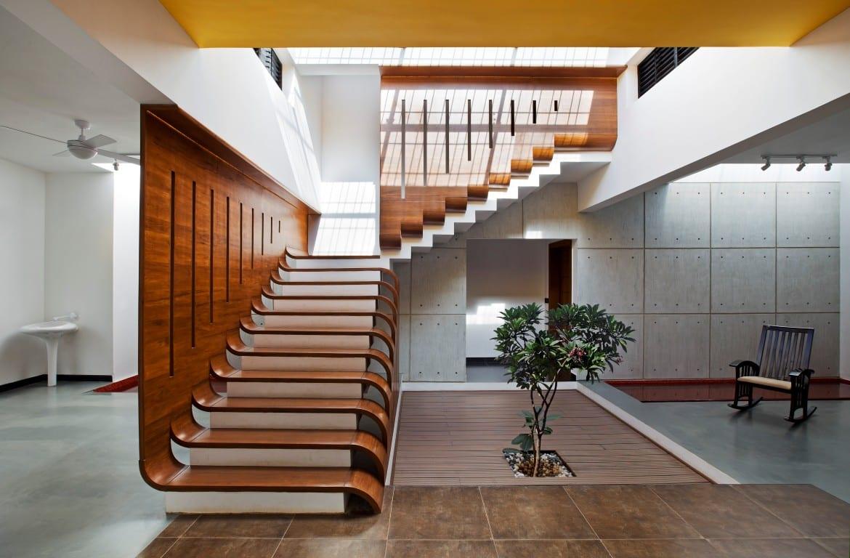 Escaleras de cemento para interiores modelos y tipos de for Escaleras exteriores