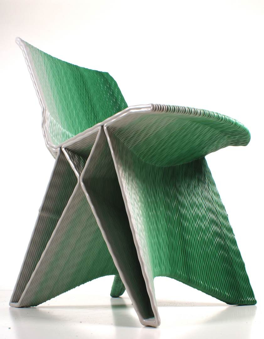 Endless Chair, Gradient Green. Photo Studio Dirk Vander Kooij (Copy)