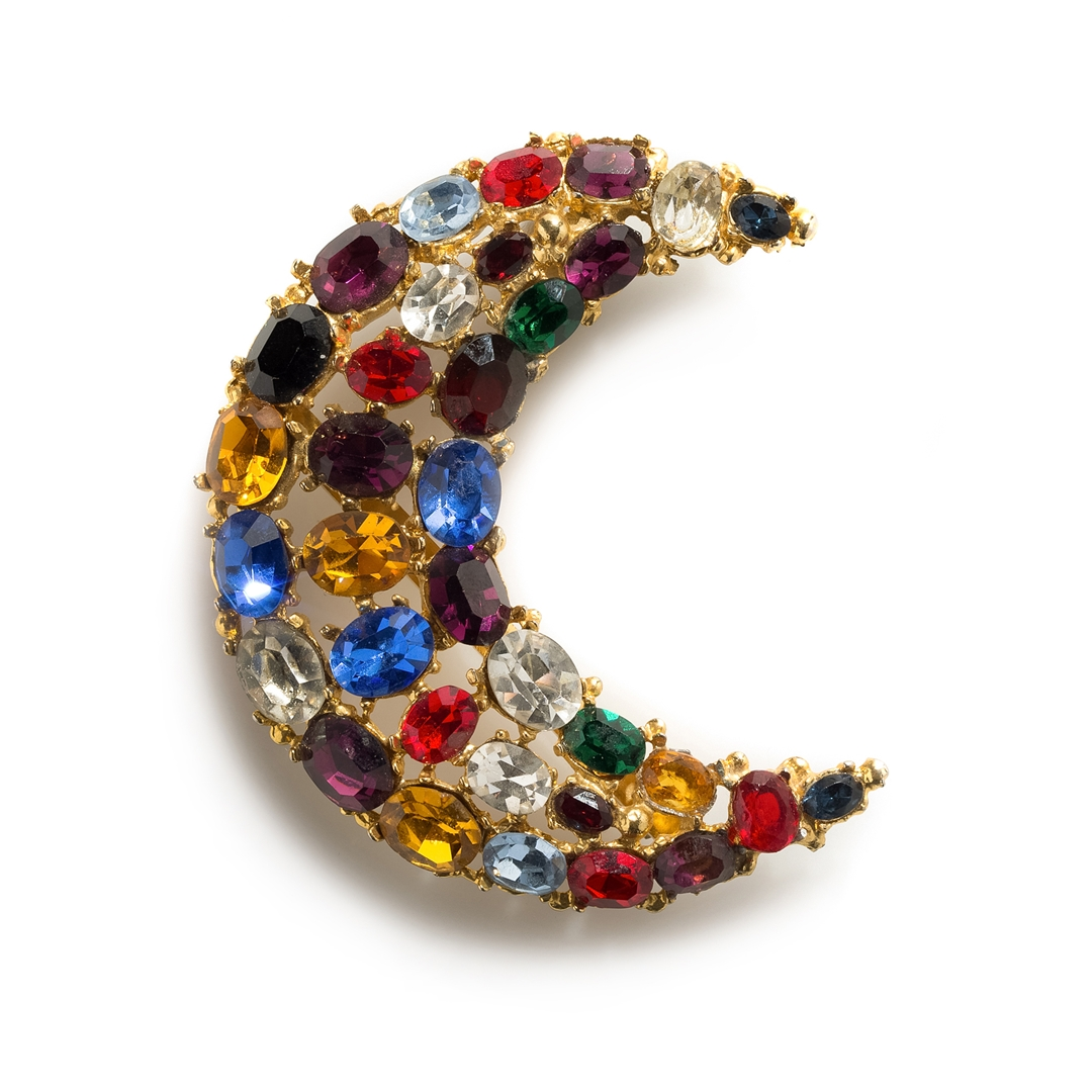 Ugo Correani half moon pin