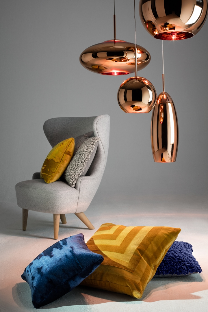 Textiles Lifestsyle 1 - Deco, Soft & Boucle Cushions with Copper Round Canopy and Wingback Micro (Copy)