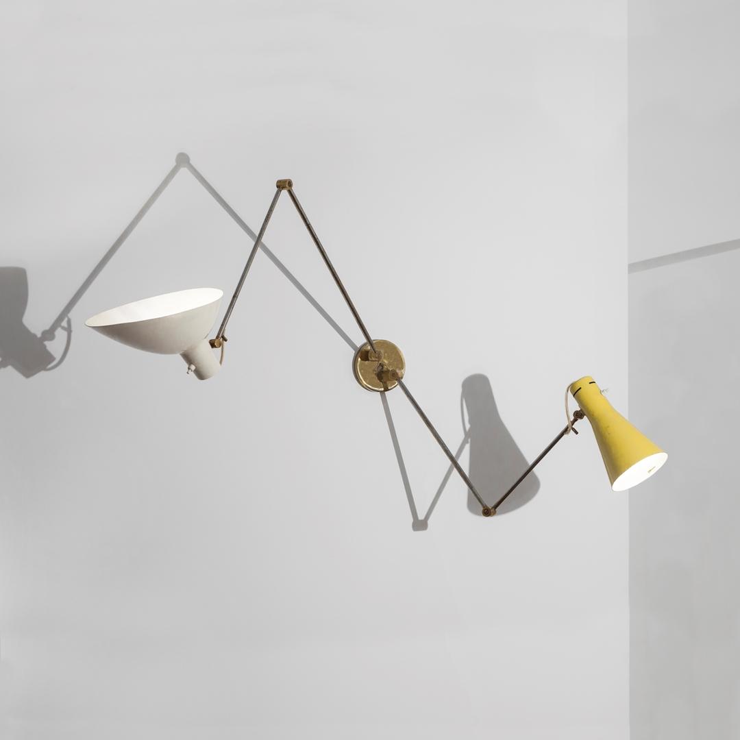 Casa Galli Wall Lamp by Gino Sarfatti & Vittoriano Viganò 1952 courtesy of Giustini - Stagetti Galleria O. Roma (Copy)