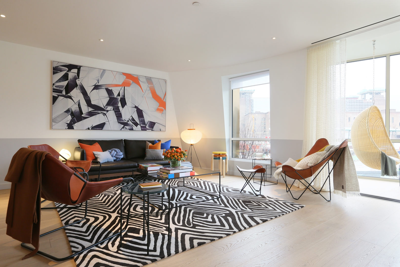 Gehry show apartment living room at Battersea Power Station (Copy)