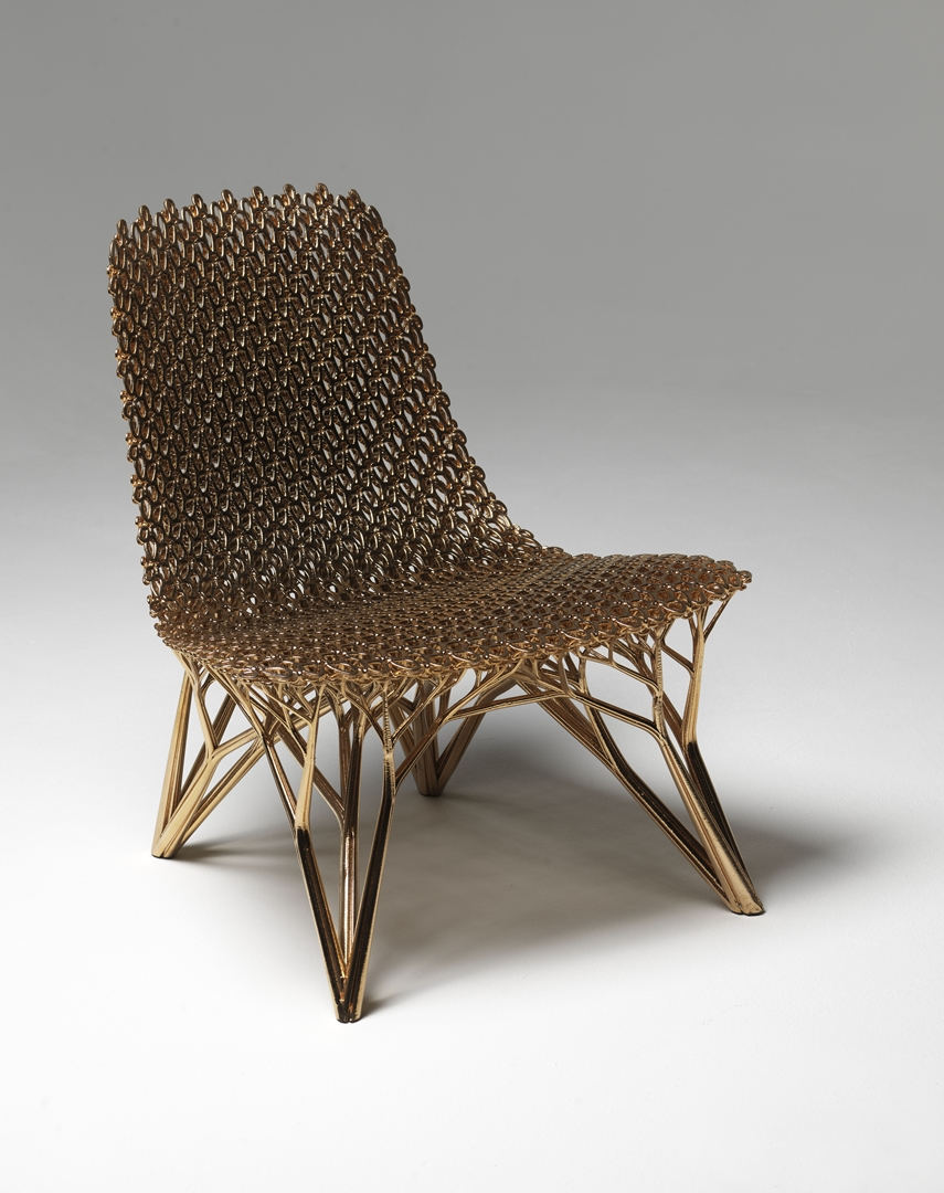 Imprimer le monde Joris Laarman Adaptation Chair Gradient Copper Chair 2015 Collection Centre Pompidou (Copy)