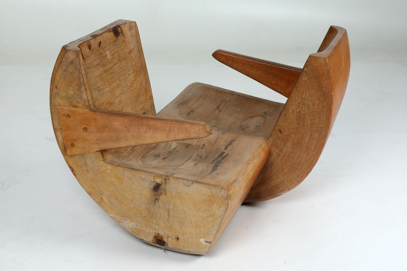 'Namoradeira' rocking chair by Jose Zanine Caldas 1970 at Mercado Moderno courtesy of Mercado Moderno (Copy)