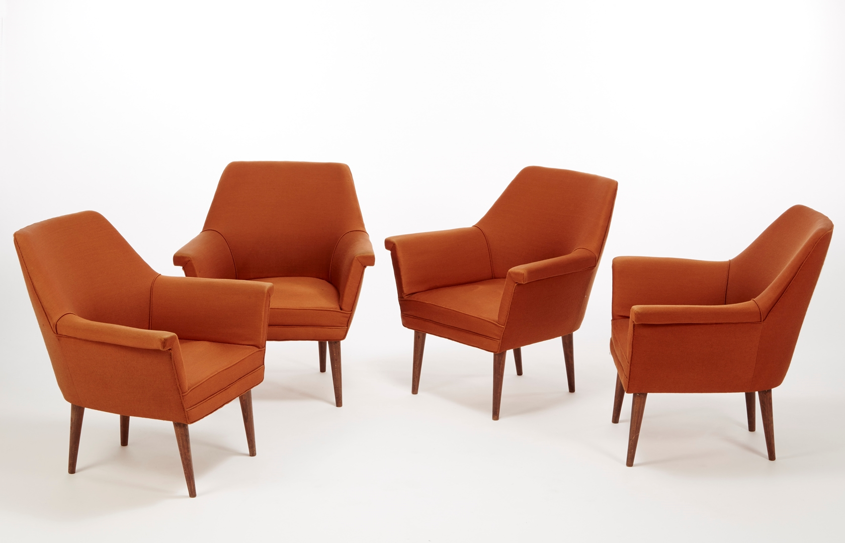 Set of 4 armchairs by BBPR 1962 at Casati Gallery courtesy of Casati Gallery (Copy)