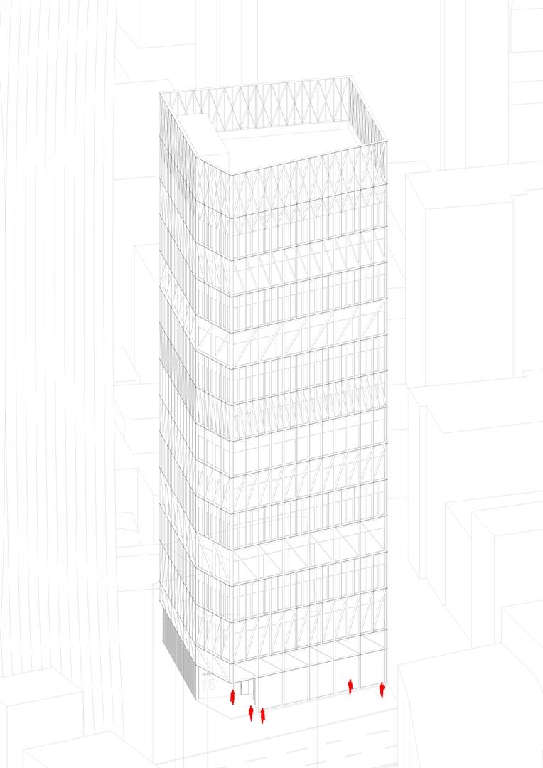 Namdeamun Office Building Axonometry (Copy)