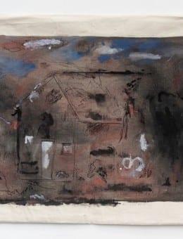 Casa -  Acri¦ülico, tinta de birome, marcador al agua, pintura para tela y latex sobre tela de algodo¦ün - 60 x 80 cm aprox. 2015