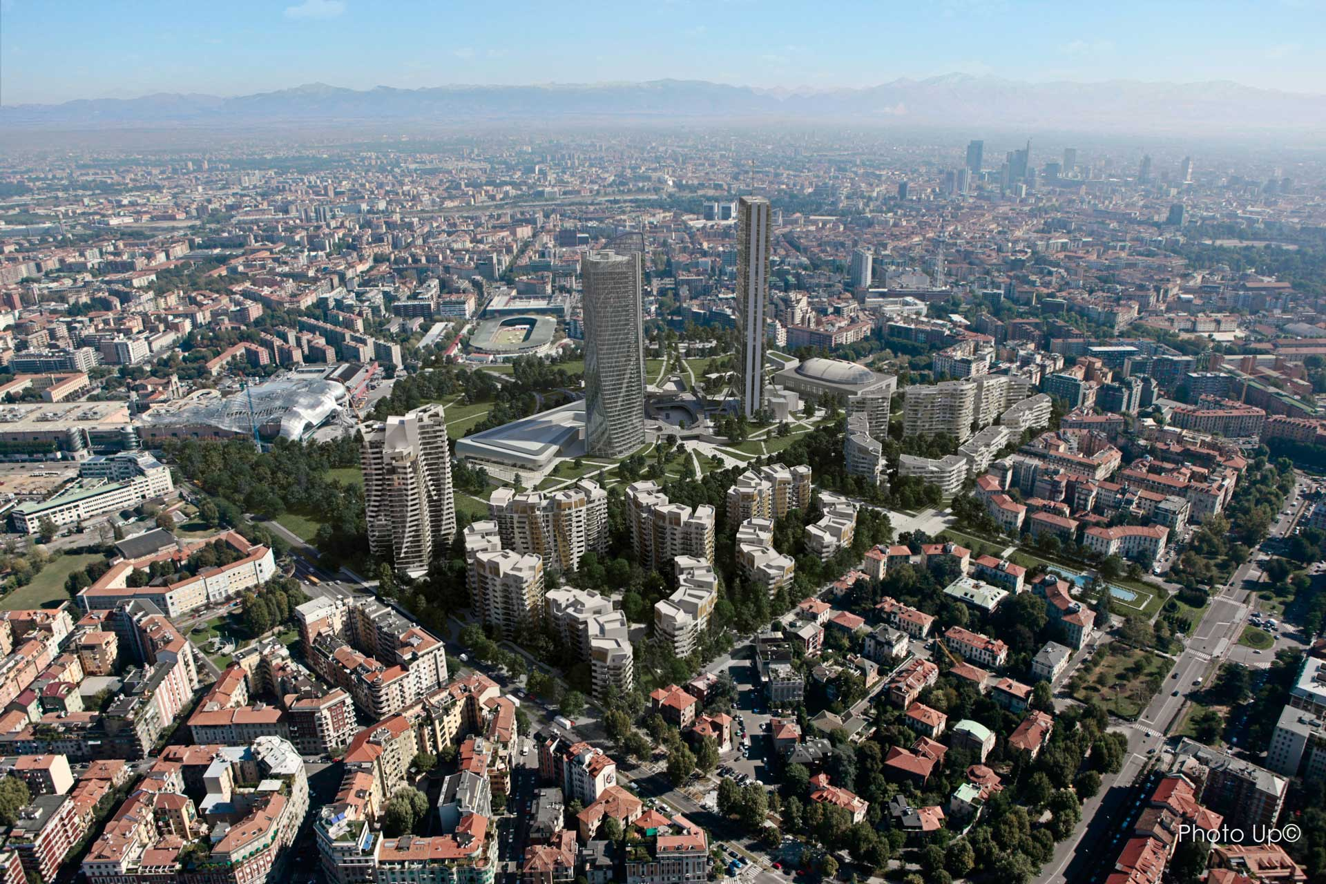 ZHA_Citylife_Generali-Tower_Milan_Aerial-View-1