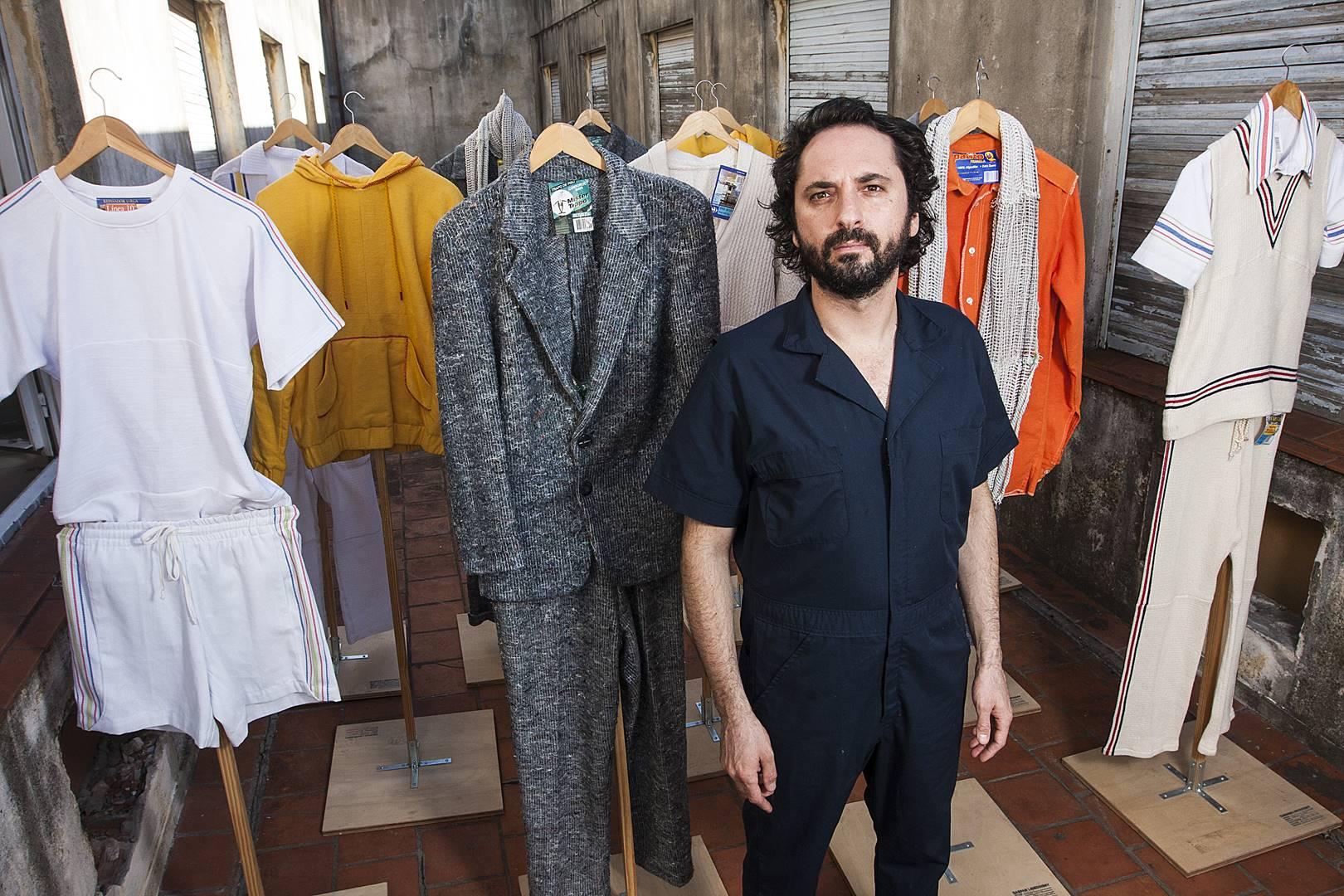 Gaspar Libedinsky - retrato taller con Mister Trapo- foto ignacio Sanchez (Copy)