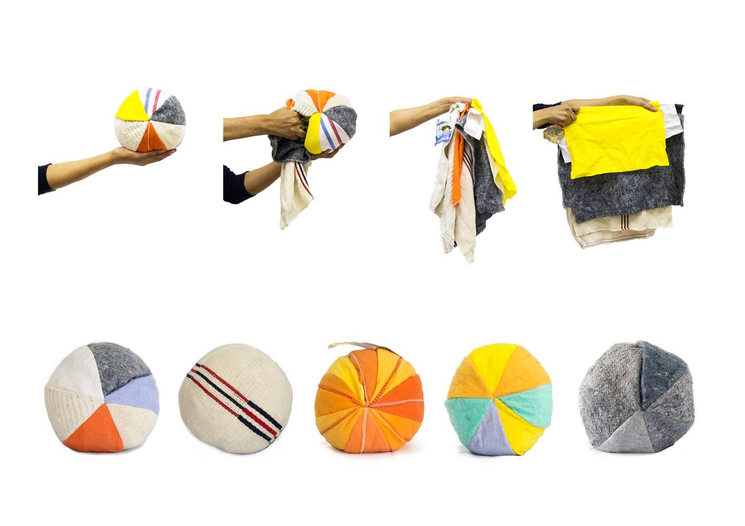 TRAPOLOGIA - PELOTA DE TRAPO - Coleccion de 5 pelotas y proceso de transformacion de Hecho Pelota a Hecho Trapo - PH FLAVIA CANELO (Copy)