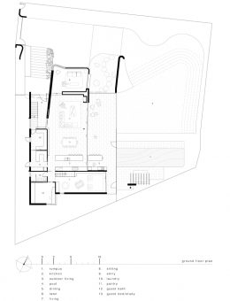 luigi rosselli architects   sticks and stones house   ground floor plan (Copy)