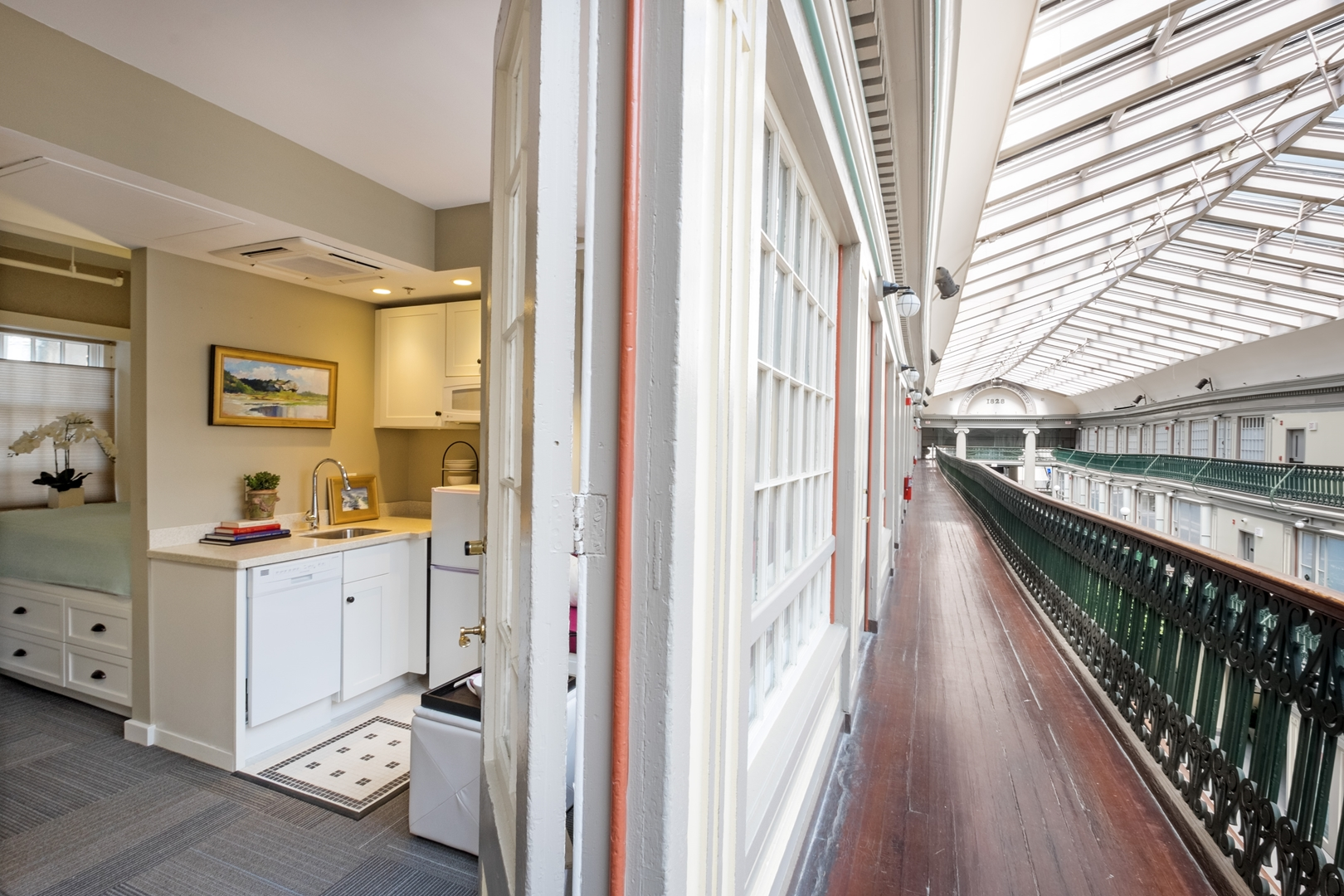 The Micro Lofts at The Arcade Providence Loft Interior and Atrium Photo Credit Ben Jacobsen (Copy)