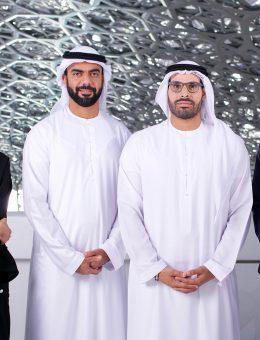 Hissa Al Dhaheri, Saif Ghobash, HE Mohammed Al Mubarak, Manuel Rabaté © Louvre Abu Dhabi Mohamed Somji (Copy)