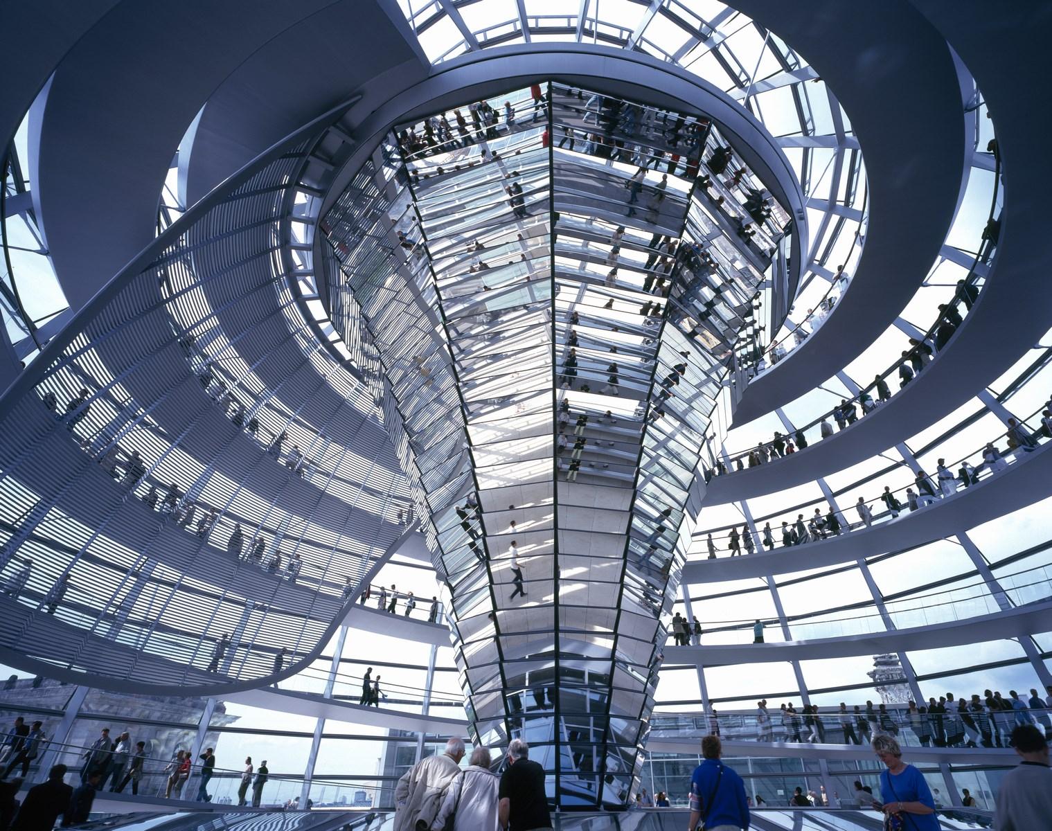 1999 - Reichstag, nuevo parlamento alemán, Berlín, Alemania.