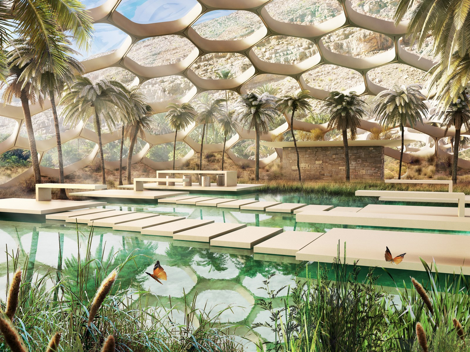 The Biodomes_Wildlife Conservation Centre_Reception view 1_Baharash Architecture (Copy)