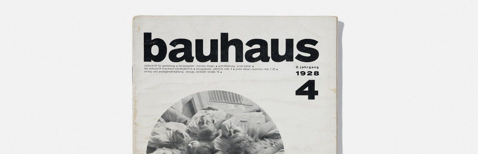 Revista de diseño editada por la Bauhaus a cargo de Hannes Meyer (responsable de contenidos) y Ernst Kállai (secretario de redacción), 1928.  Foto: A. Körner (bildhübsche Fotografie) / Gentileza ifa