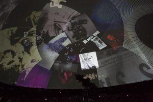 Stan VanDerBeek, Cine Dreams: Cinema of the Mind, Vista de instalación, Civico Planetario Ulrico Hoepli, Milán, 2014    Ph: Marco De Scalzi