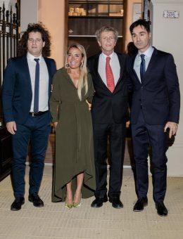 Damián Manusovich, Claudia Calciano, Marcos Malbran y Ezequiel Piccolo en el pre opening de Casa FOA 2018 (Copiar)