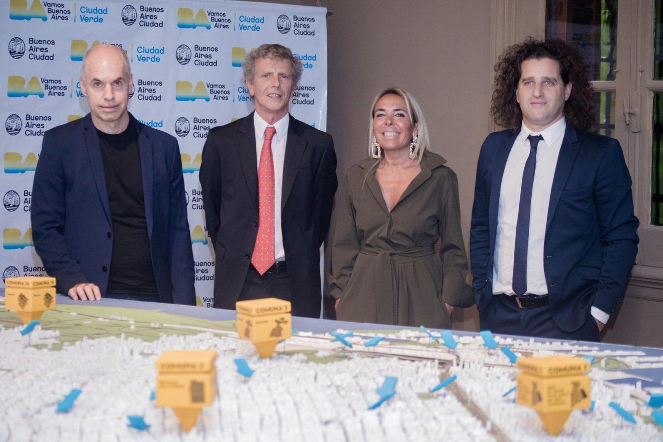 Horacio Rodríguez Larreta, Marcos Malbran, Claudia Calciano y Damián Manusovich en el pre opening de Casa FOA 2018 (Copiar)