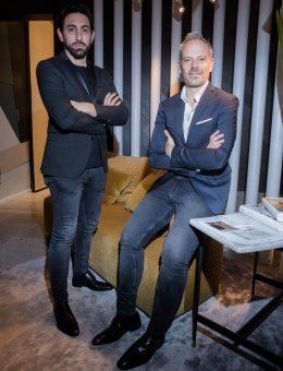 Máximo Ferraro y Gustavo Yankelevich en su espacio en el pre opening de Casa FOA 2018 (6) (Copiar)