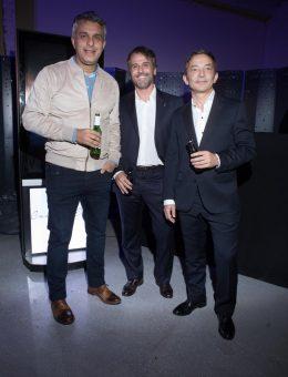 Mario Massaccesi, Pedro Línes, Director Técnico del INDEC y  Gustavo Lopardo, Médico Infectólogo de Stamboulian en el pre opening de Casa FOA 2018 (Copiar)