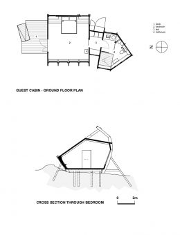 A GUEST CABIN - PRESENTATION DRAWINGS