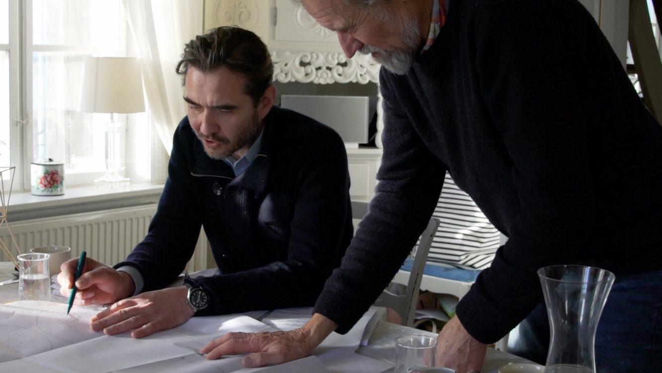 PAN-tretopphytter Professor Arkitekt Espen Surnevik og Professor Ingeniør Finn-Erik Nilsen (Copiar)