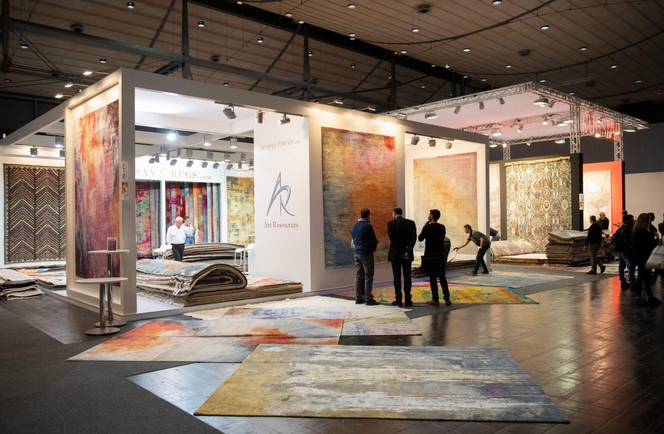 DOMOTEX - Weltleitmesse für Teppiche und Bodenbeläge.  Die Sonderfläche Framing Trends - Der perfekte Rahmen für Kreativität und Inspiration. Art Resources, Halle 9, Stand C25