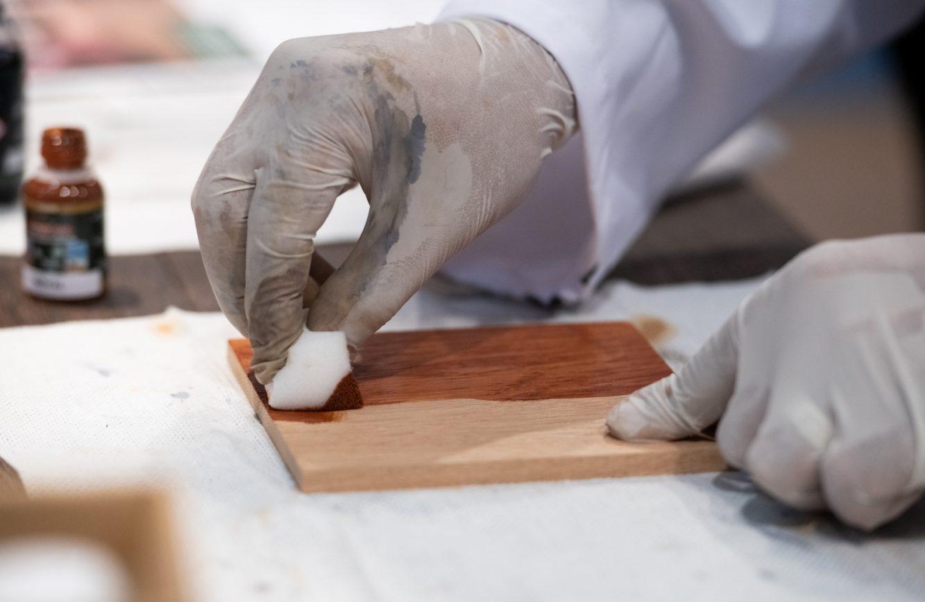 DOMOTEX - Weltleitmesse für Teppiche und Bodenbeläge. Anwendungs- und Verlegetechnik, Muylle-Facon, Rubio Monocoat Oil Plus 2C, Halle 13, Stand D35