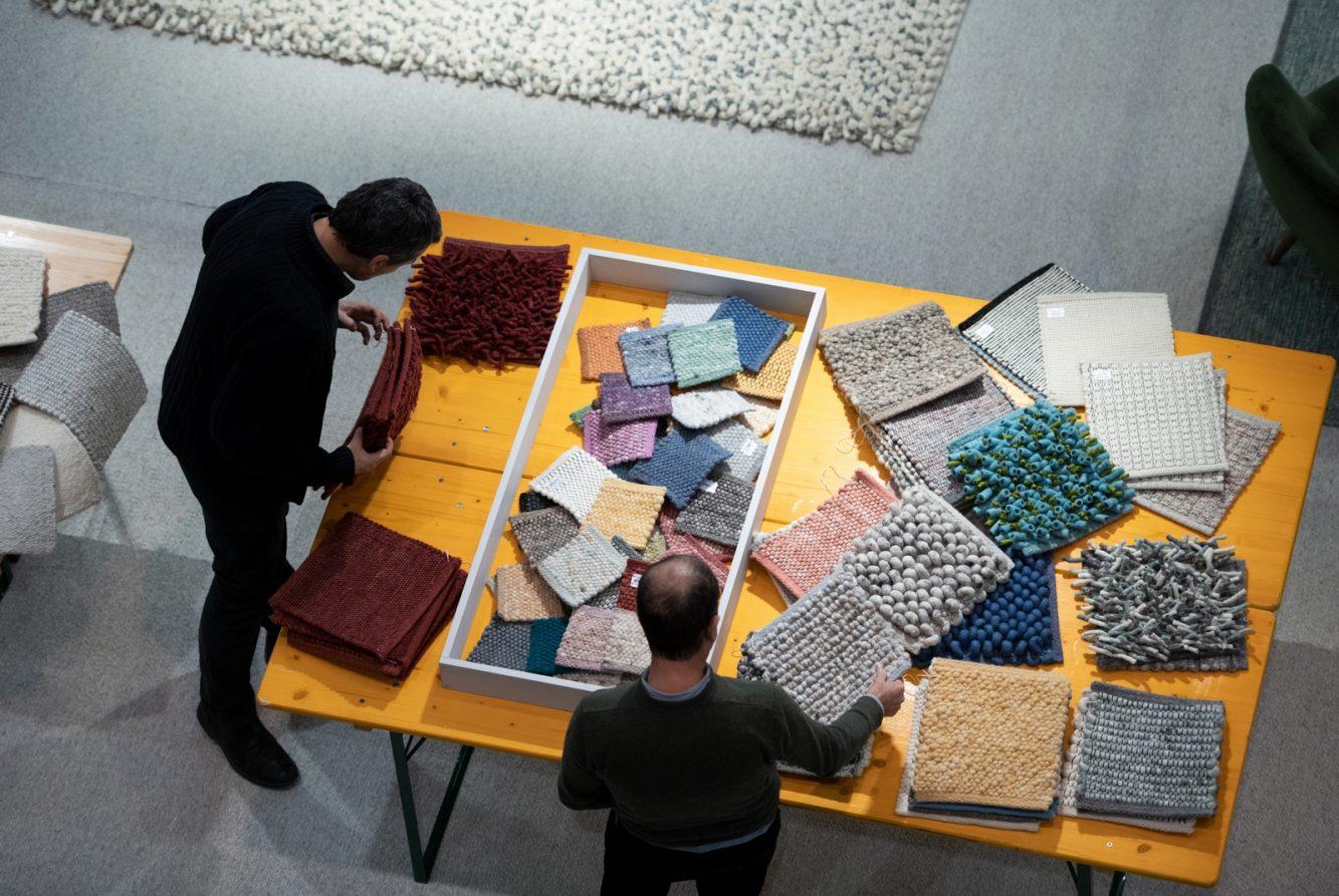 DOMOTEX - Weltleitmesse für Teppiche und Bodenbeläge. Handgefertigte Teppiche, Tisca-Textil; Halle 9, Stand A26