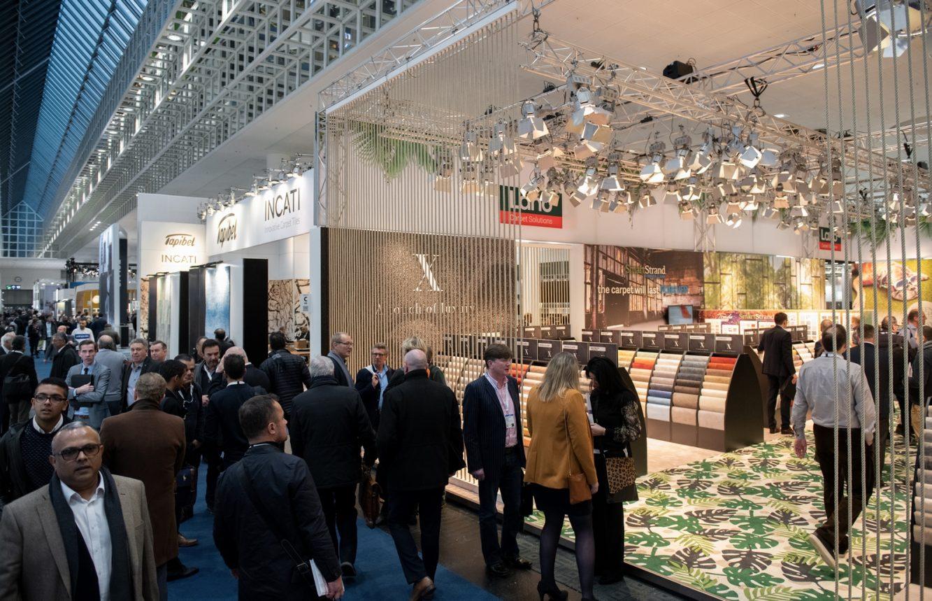 DOMOTEX - Weltleitmesse für Teppiche und Bodenbeläge. Elastische Bodenbeläge - Designbeläge / LVT und Matten und Sauberlaufsysteme in Halle 11.