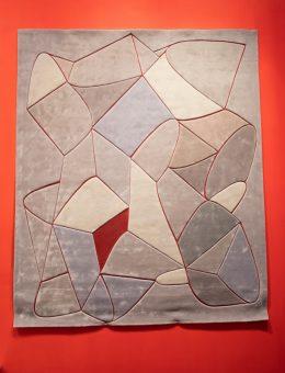 DOMOTEX - Weltleitmesse für Teppiche und Bodenbeläge. Die Sonderfläche Framing Trends - Der perfekte Rahmen für Kreativität und Inspiration.  Rug Star, SuperSmooth No. 01 on Red Denim, Halle 9, Stand C39  (Trendbericht)