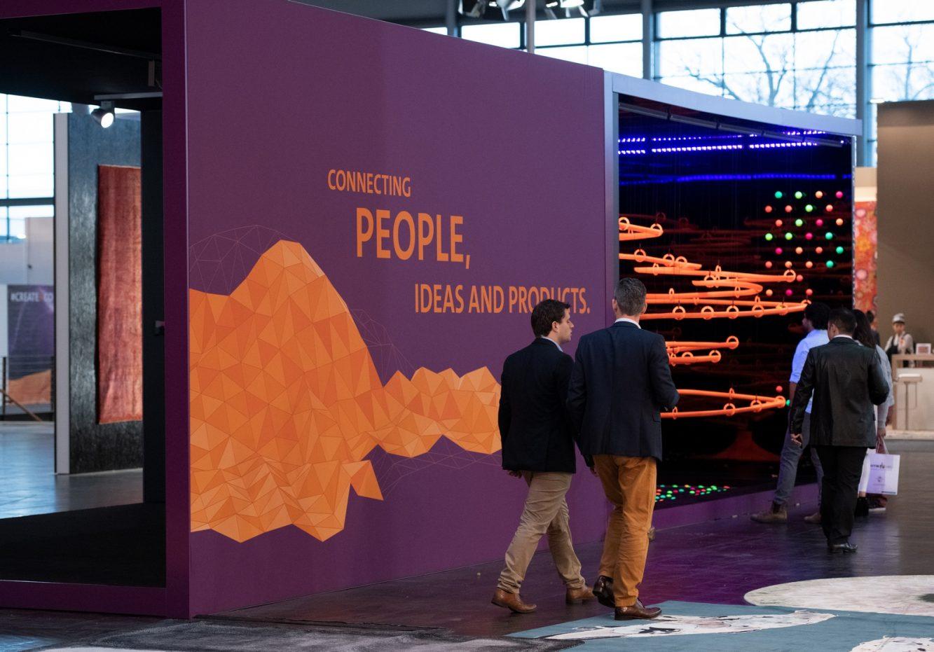 DOMOTEX - Weltleitmesse für Teppiche und Bodenbeläge. Die Sonderfläche Framing Trends - Der perfekte Rahmen für Kreativität und Inspiration