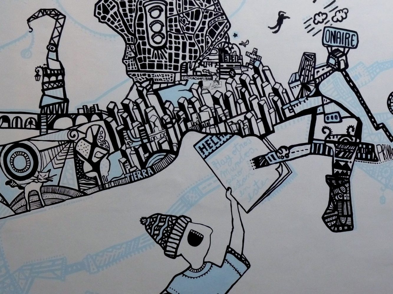 Mural revista Hecho en Buenos Aires