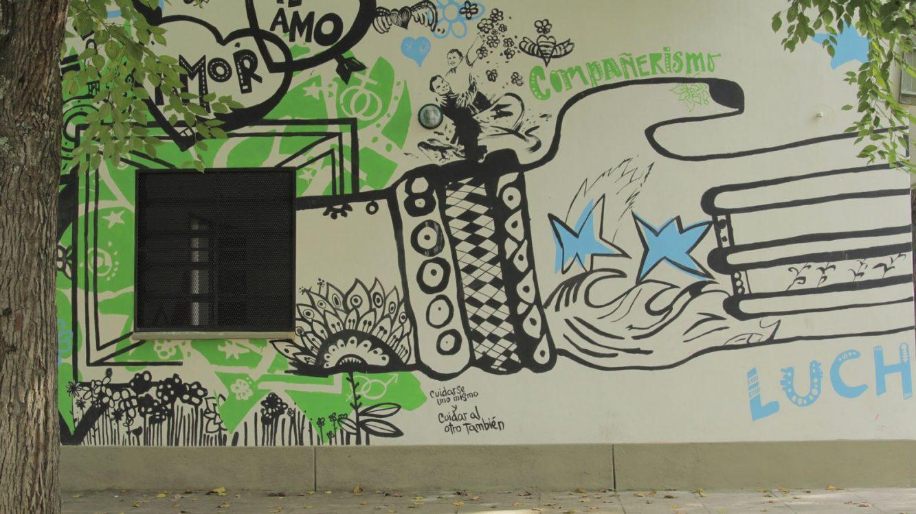 Mural en escuela de Lules, Tucumán