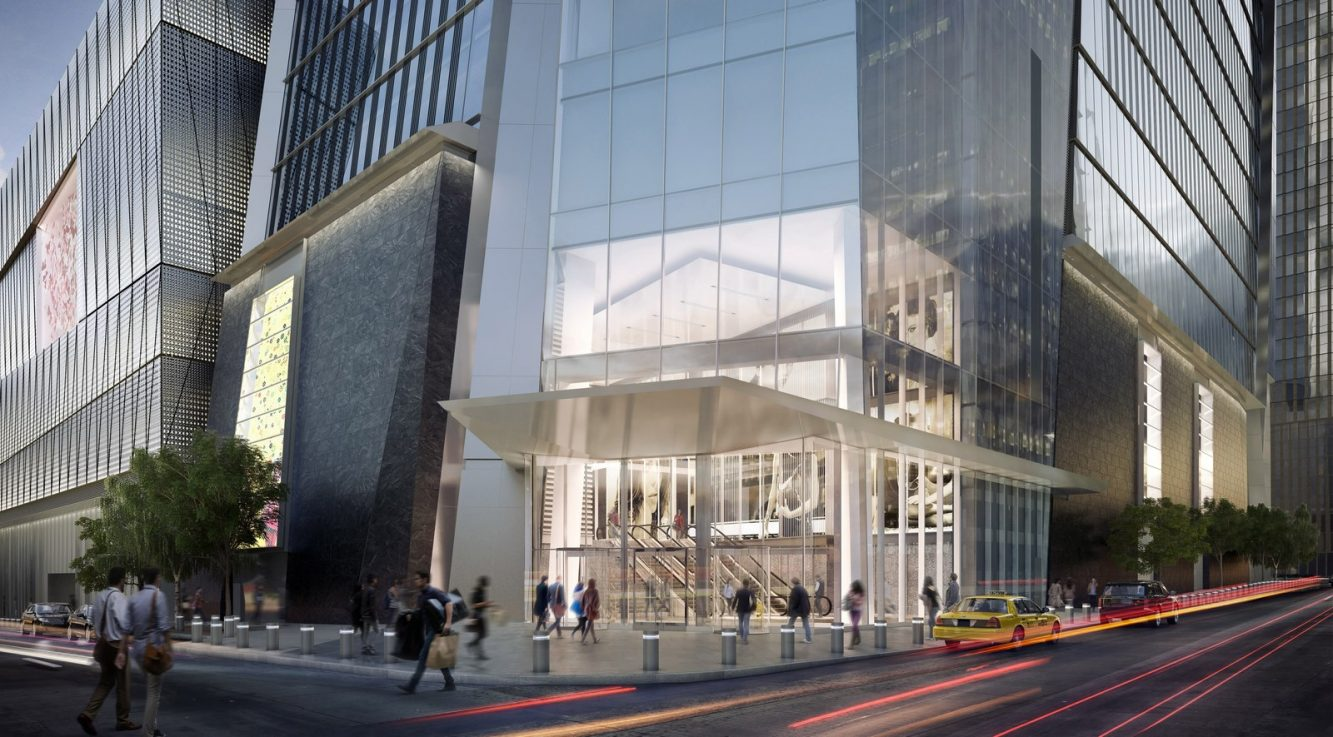 30 Hudson Yards Entrance, Viewed from 33rd St. and 10th Ave. - courtesy of Related-Oxford (Copiar)