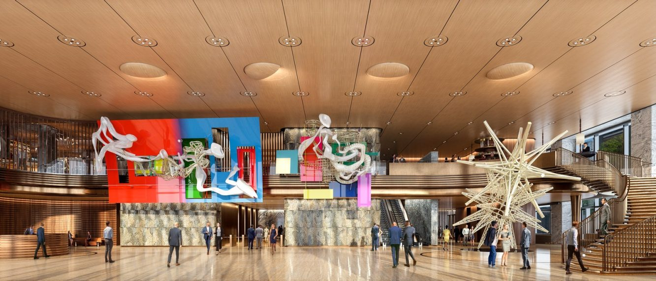 50 Hudson Yards Lobby with Frank Stella Artwork - courtesy of Related-Oxford (Copiar)