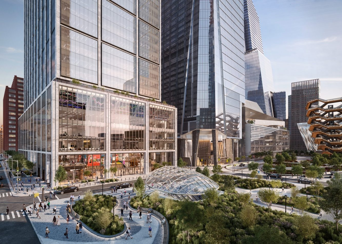 50 Hudson Yards Viewed from Hudson Park & Boulevard – courtesy of Related-Oxford (Copiar)