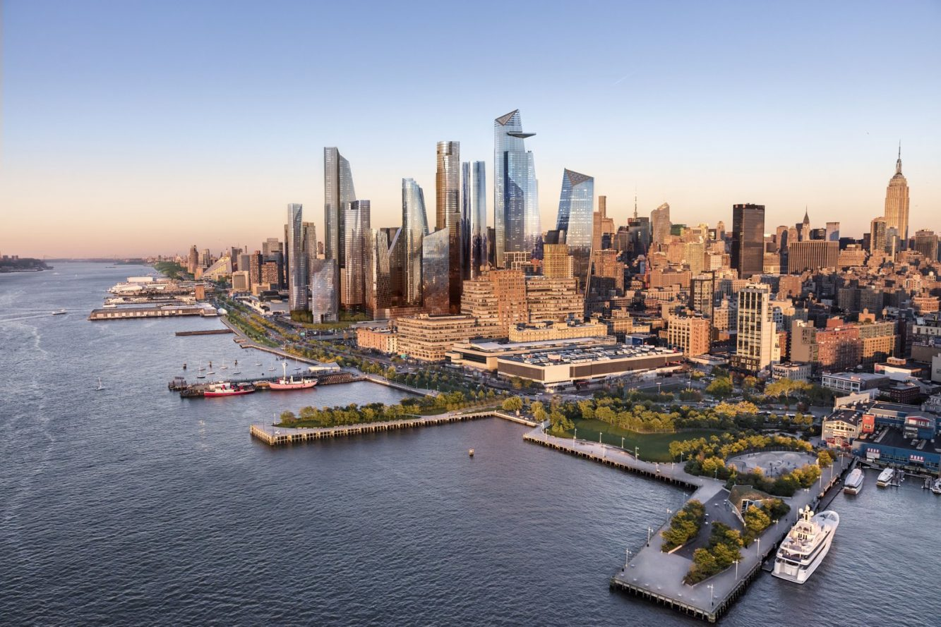 Hudson Yards Viewed from the Hudson River - courtesy of Related-Oxford (Copiar)
