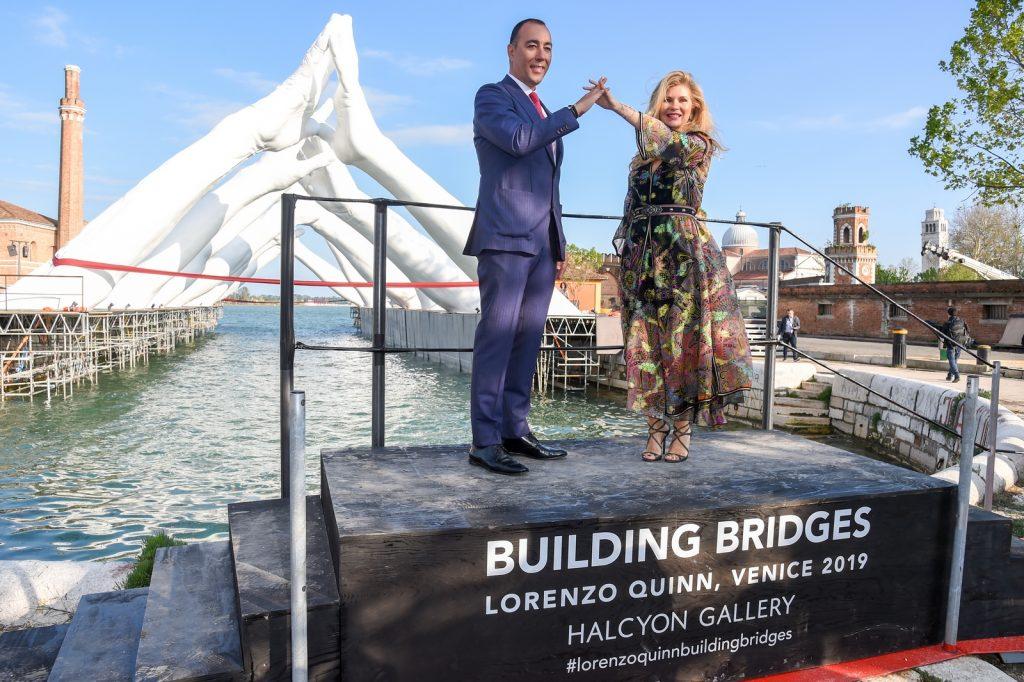 Inauguration Of Lorenzo Quinn's Building Bridges Sculpture During Venice Biennale 2019