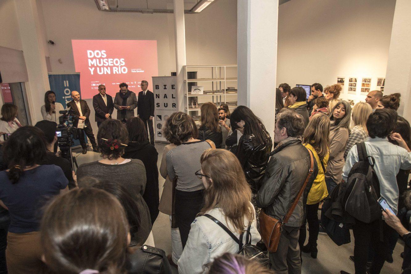 Apertura de la muestra Dos museos y un río en el museo Castagnino+macro - Rosario. Crédito BIENALSUR