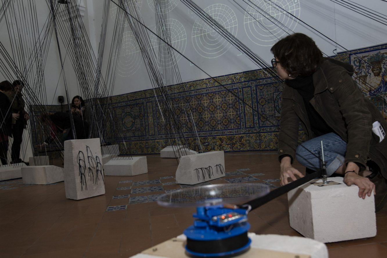 Aquí y ahora Ici et maintenant (activación) - María Maggiori y Julia Suero - MIFB - Museo de Arte Hispanoamericano Isaac Fernández Blanco- Crédito BIENALSUR (Copiar)