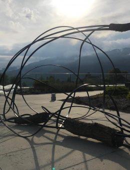 Obra de Pablo Reinoso en Parcours Culturel BIENALSUR - Crans Montana - Suiza. Crédito BIENALSUR (Copiar)