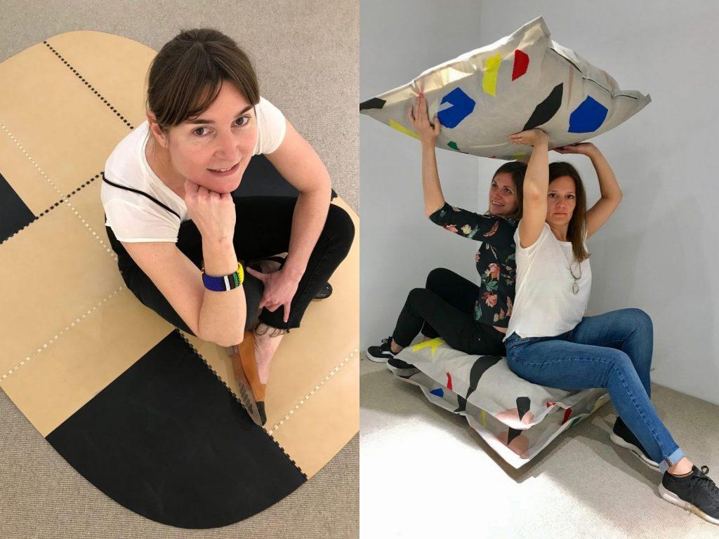 La diseñadora industrial Sofía Ribetto y Grupo Modestá (Paula Ckrosottsi y Emiliana Carricondo)